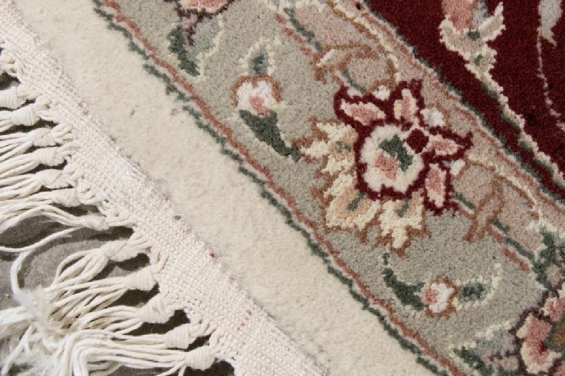 Hand Woven Indo-Tabriz Rug, 8' Round - 3