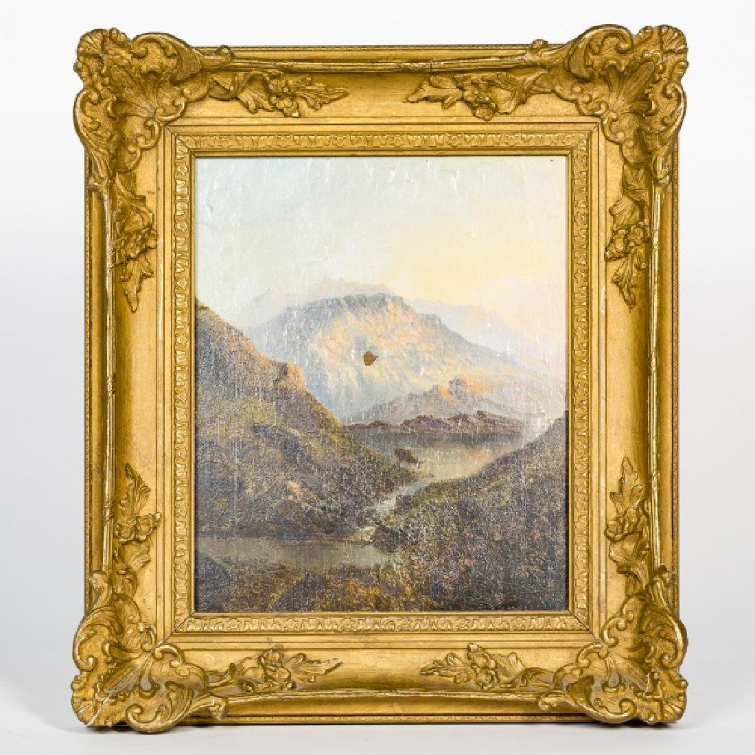 19th C. American School Landscape, Monogrammed