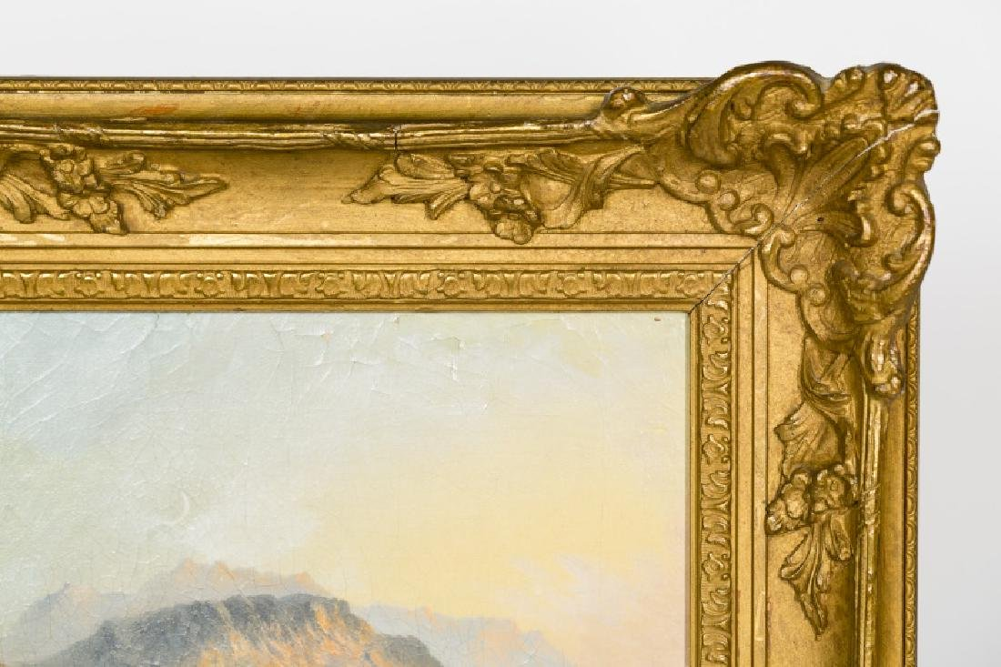 19th C. American School Landscape, Monogrammed - 4