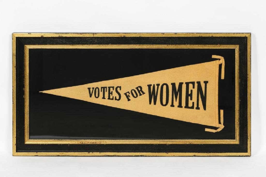"""Votes for Women"" Suffragette Pennant CA 1910-1920"