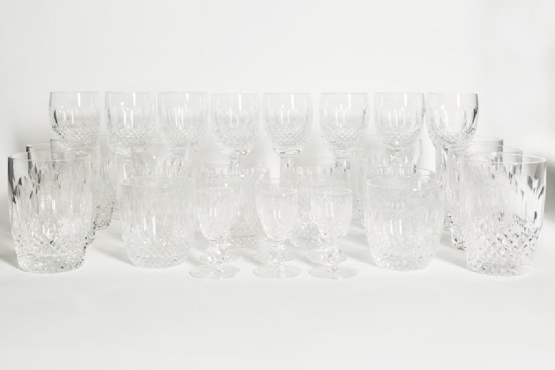 "30 Piece Waterford Crystal Set, ""Colleen"" Pattern"