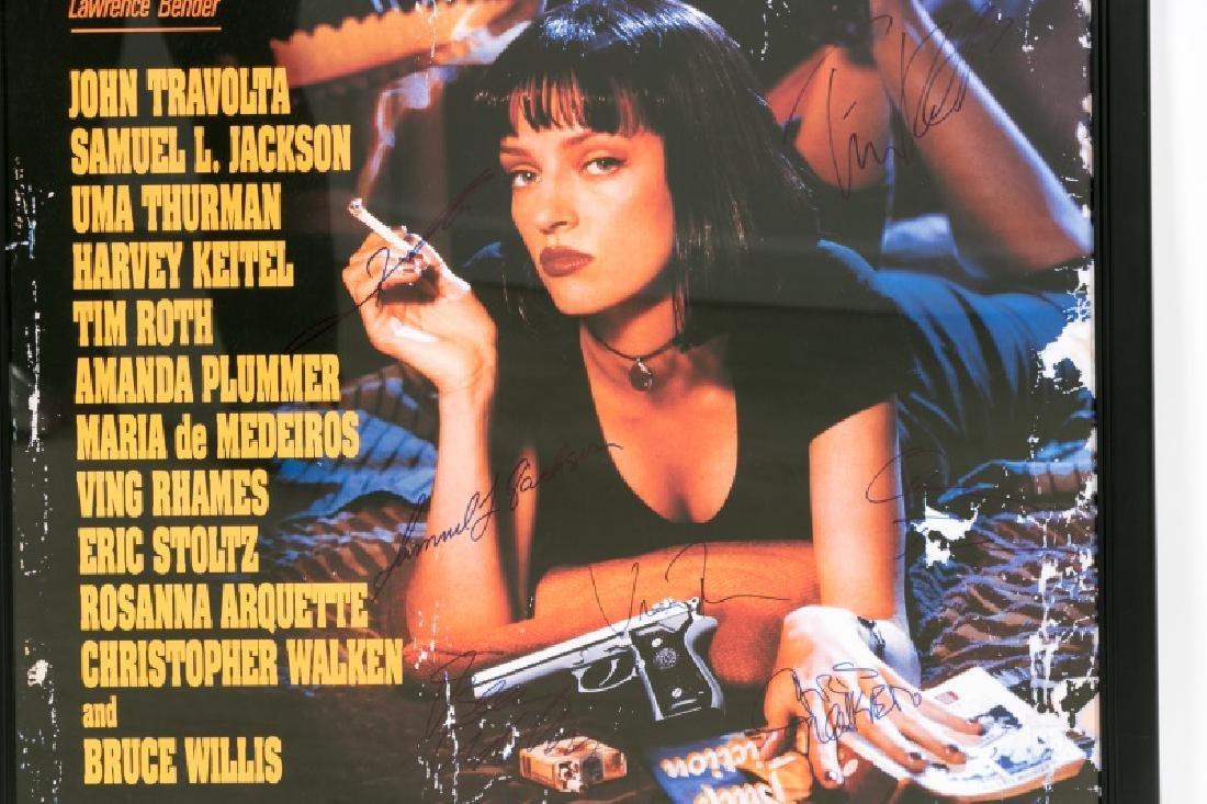 "Framed ""Pulp Fiction"" Cast Signed Movie Poster - 10"