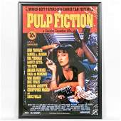 Framed Pulp Fiction Cast Signed Movie Poster