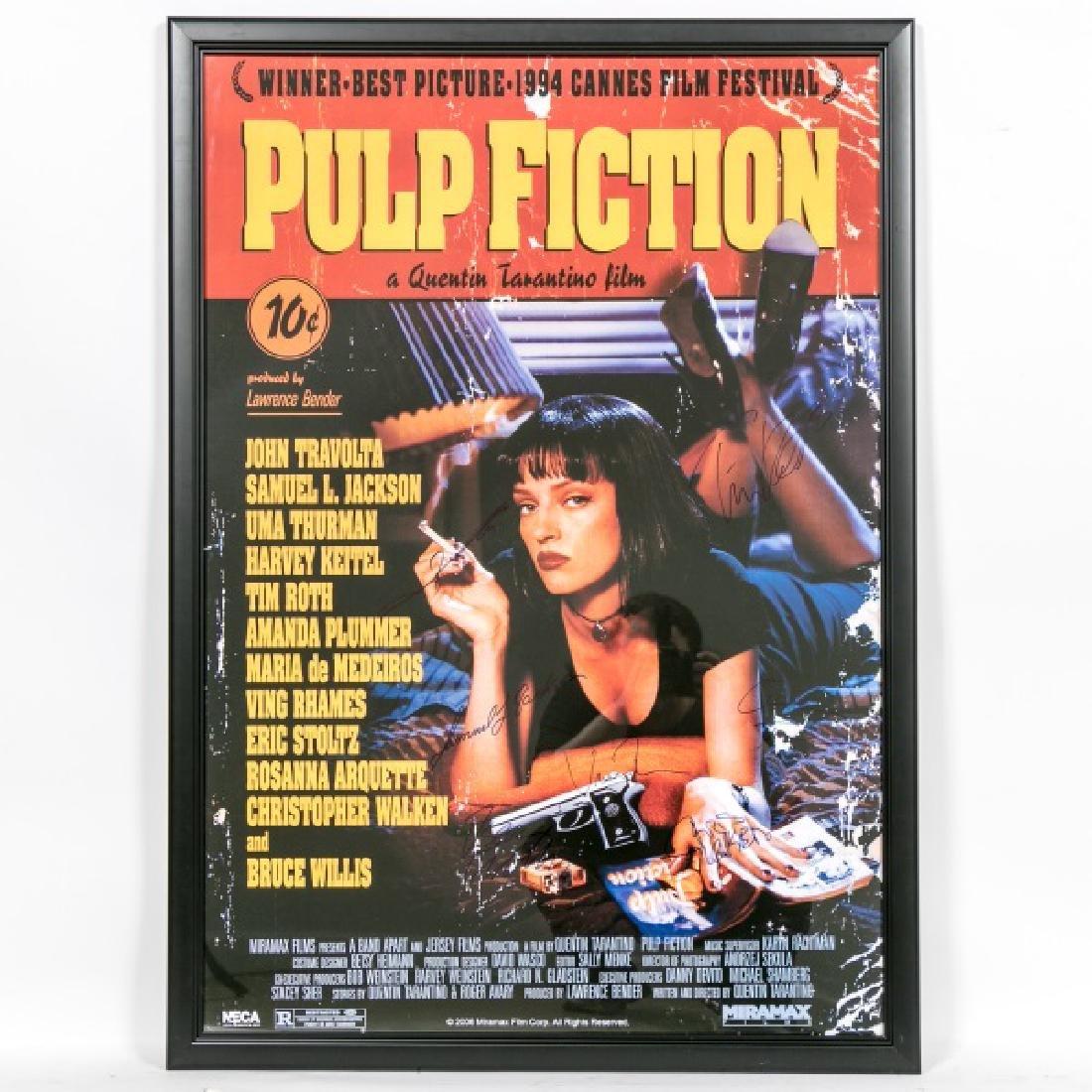 "Framed ""Pulp Fiction"" Cast Signed Movie Poster"
