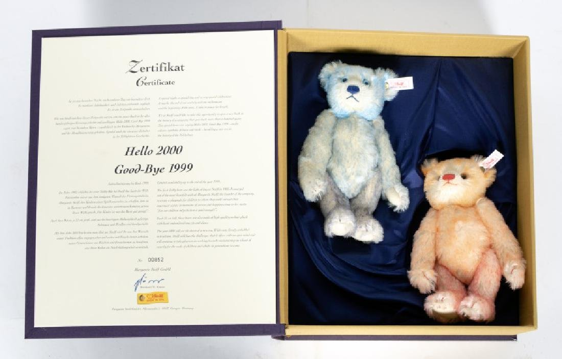 Steiff Limited Edition 2 Bears in Box, 1999/ 2000
