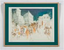 William Papas Jaffa Gate Pencil Signed Aquatint