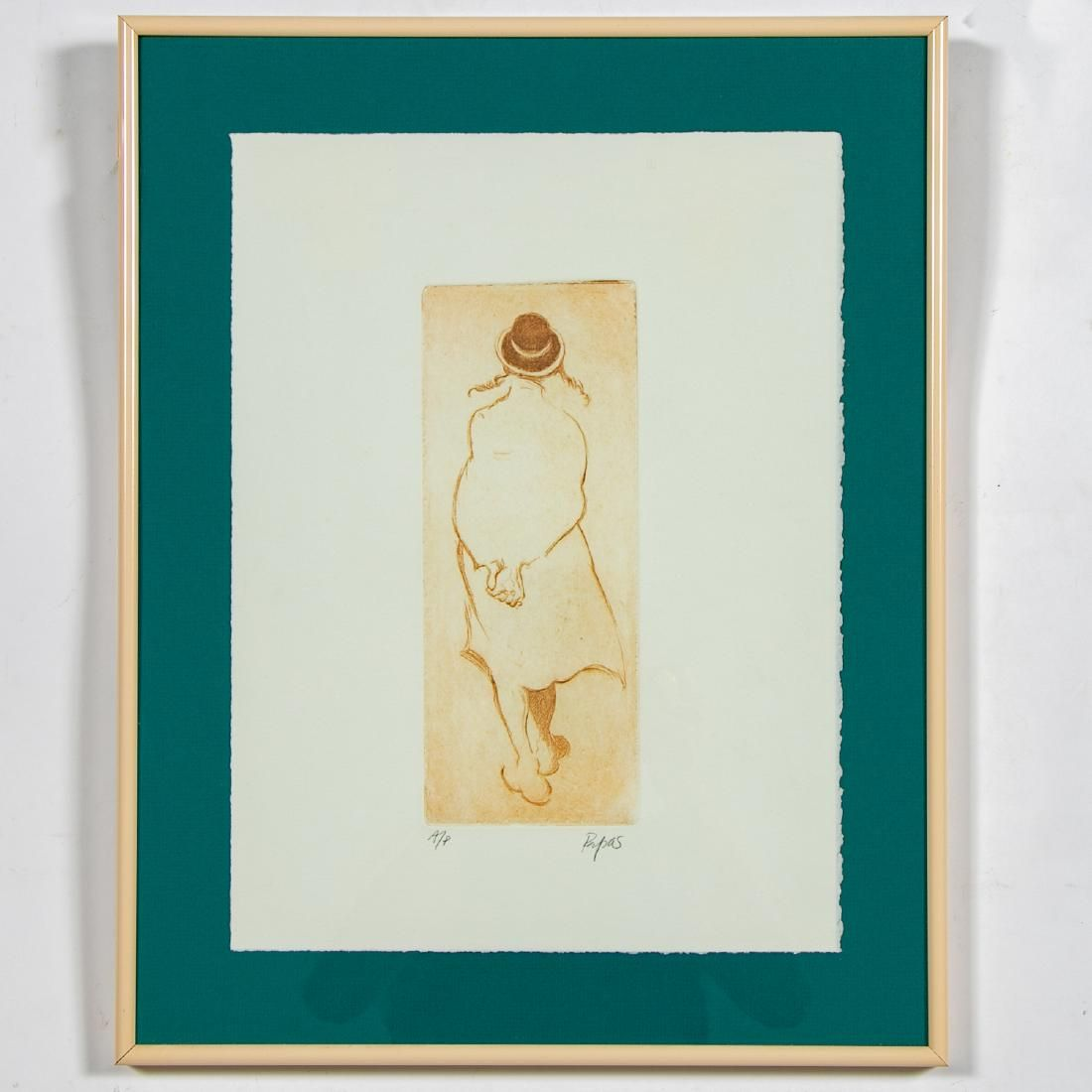 Small William Papas Pencil Signed Aquatint Etching