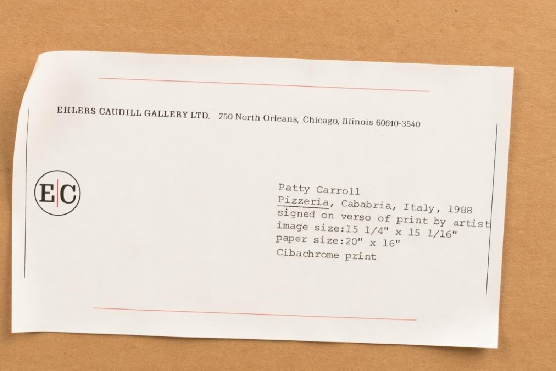 "Patty Carroll ""Pizzeria"" Cibachrome Print, 1988 - 6"