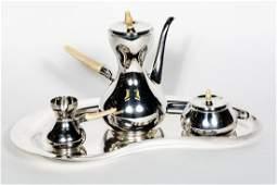 4pc Cartier Danish Sterling Silver Coffee Service