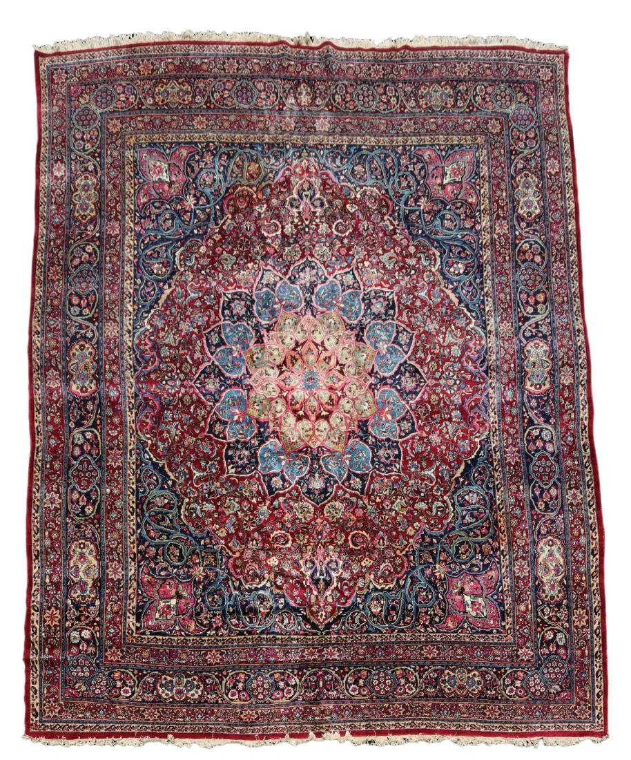 Hand Woven Persian Mashad Rug, 13' 3 x 16' 8