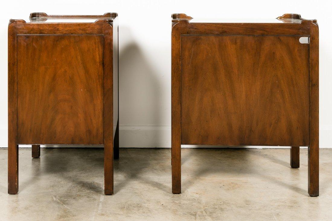 Pair, Kittinger Mahogany Chippendale Nightstands - 2