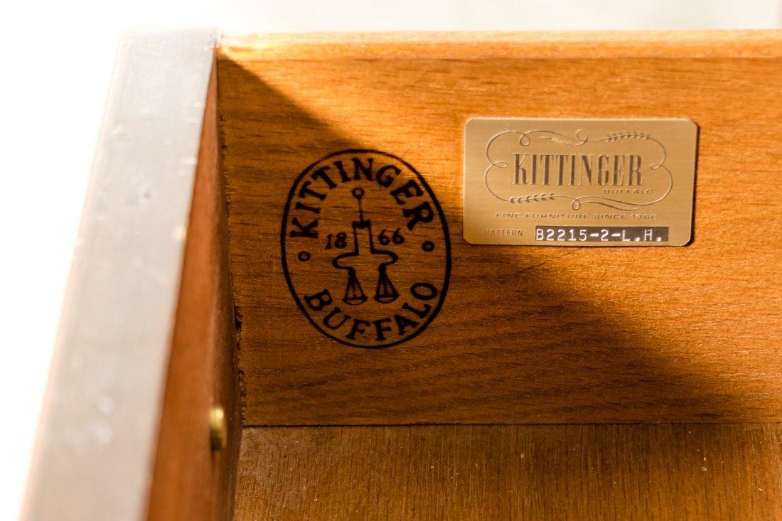 Pair, Kittinger Mahogany Chippendale Nightstands - 5