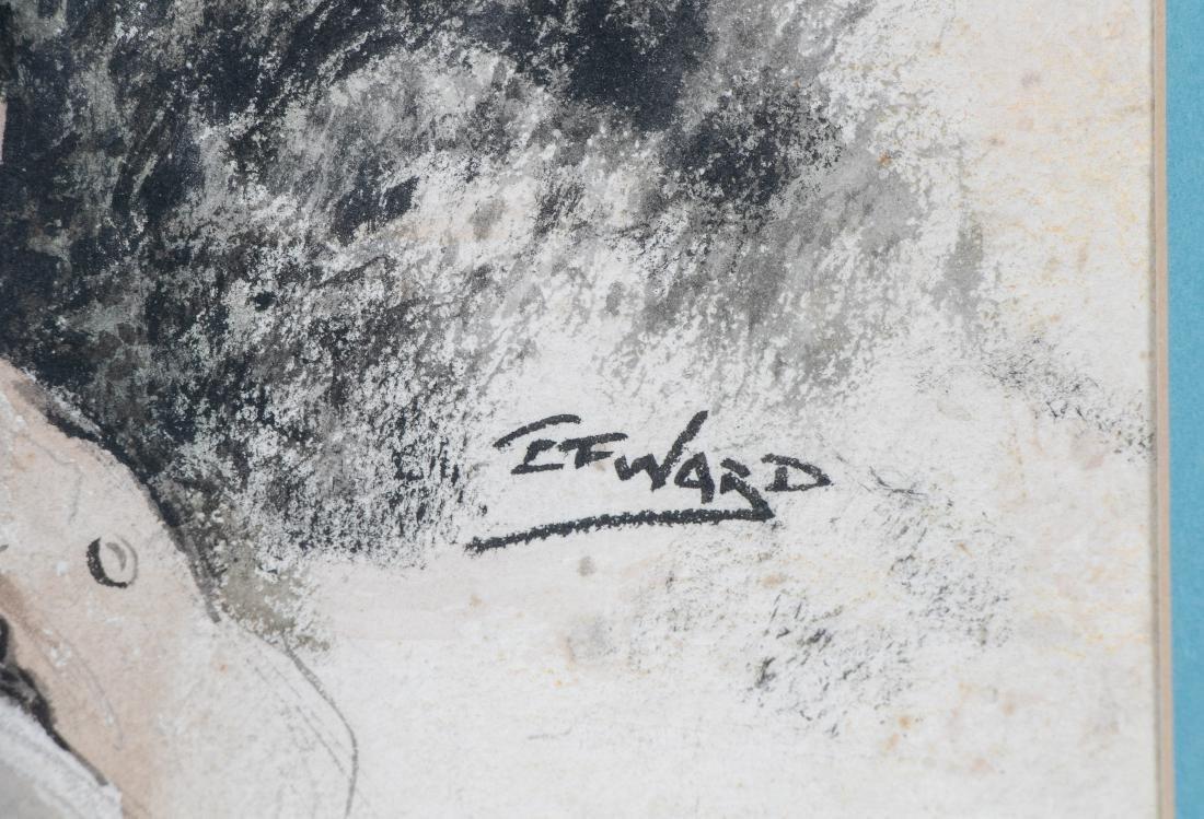E. F. Ward Illustration, Man Feeding Birds - 2