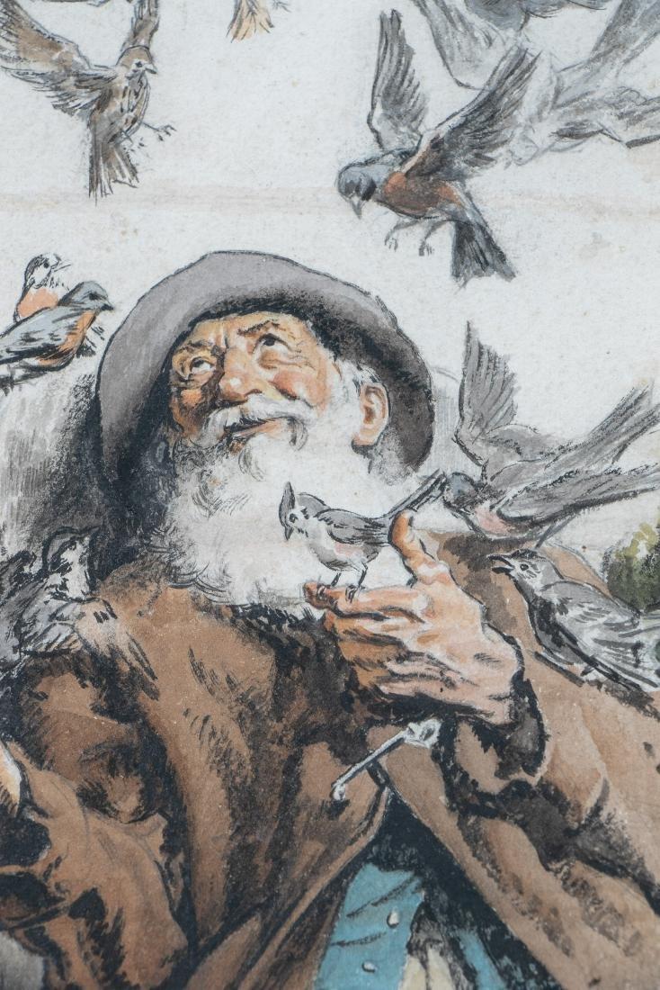 E. F. Ward Illustration, Man Feeding Birds - 3