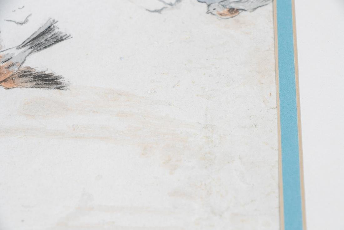 E. F. Ward Illustration, Man Feeding Birds - 4
