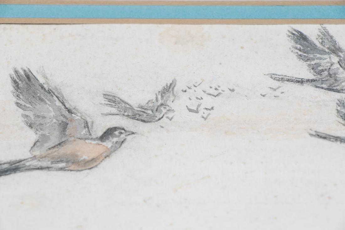E. F. Ward Illustration, Man Feeding Birds - 5
