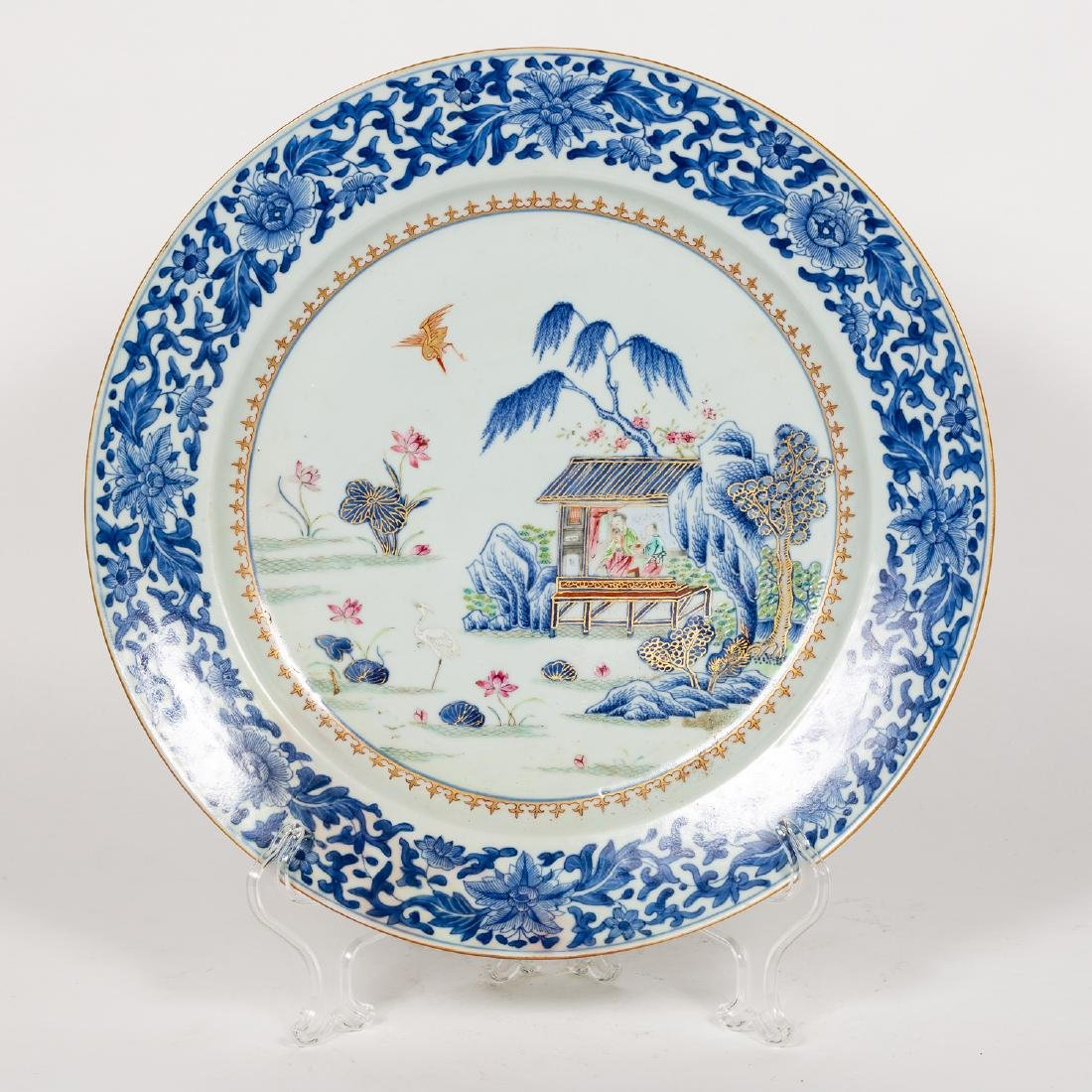 Chinese Porcelain Platter with Figural Scene