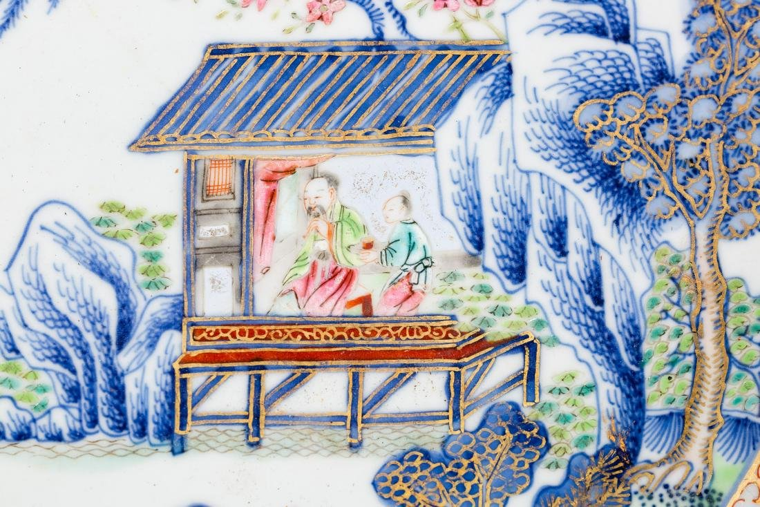 Chinese Porcelain Platter with Figural Scene - 4