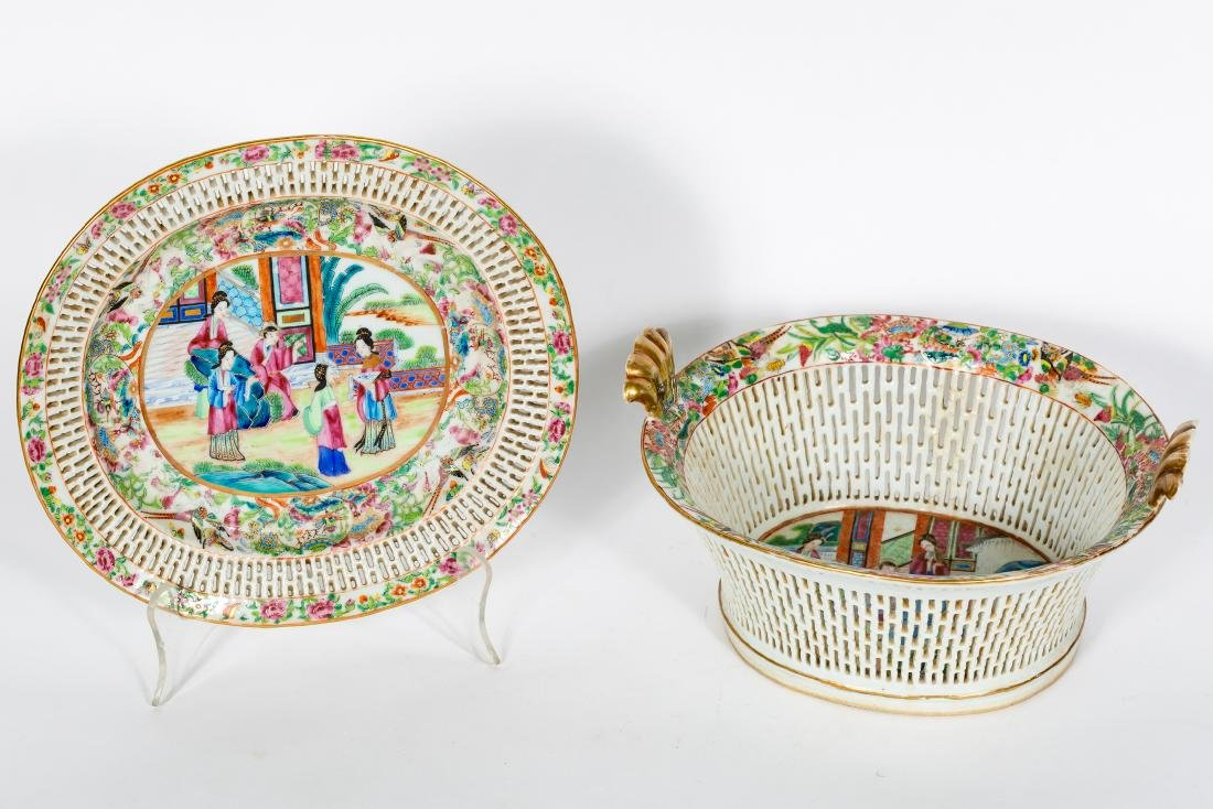 Two Chinese Famille Rose Pieces
