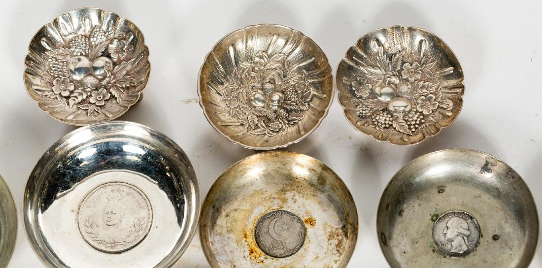 15 PC Silver Group, Small Dishes, Some w/ Coins - 4