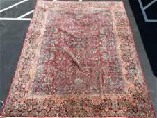 "Hand Woven Isfahan Rug or Carpet, 12' x 15' 7"""