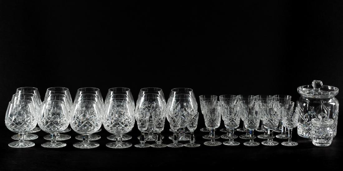 37 PC Waterford Crystal Set, Stemware & Jars