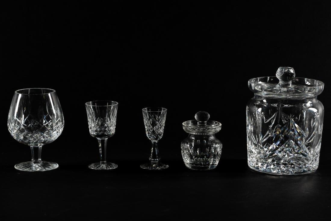 37 PC Waterford Crystal Set, Stemware & Jars - 2