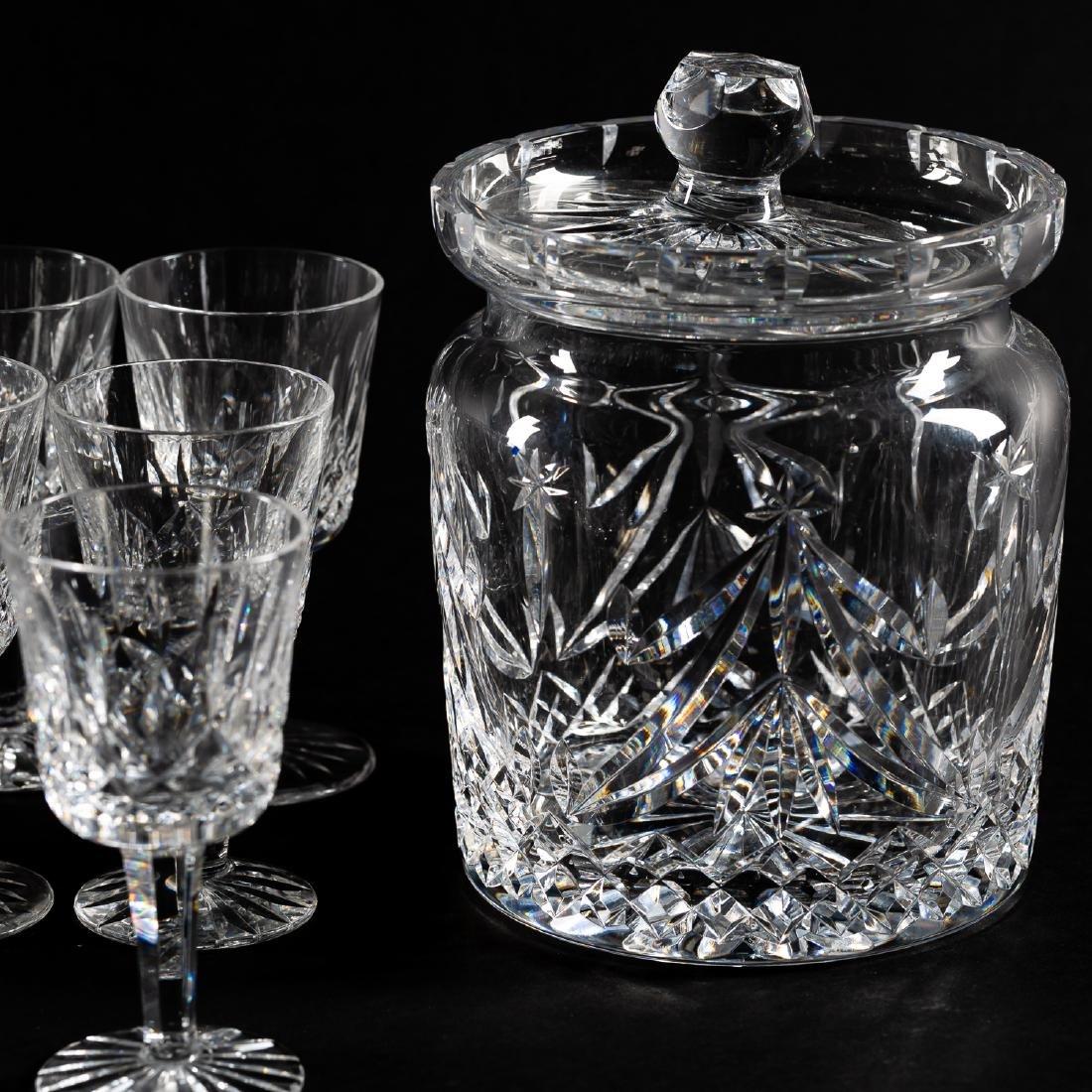 37 PC Waterford Crystal Set, Stemware & Jars - 7