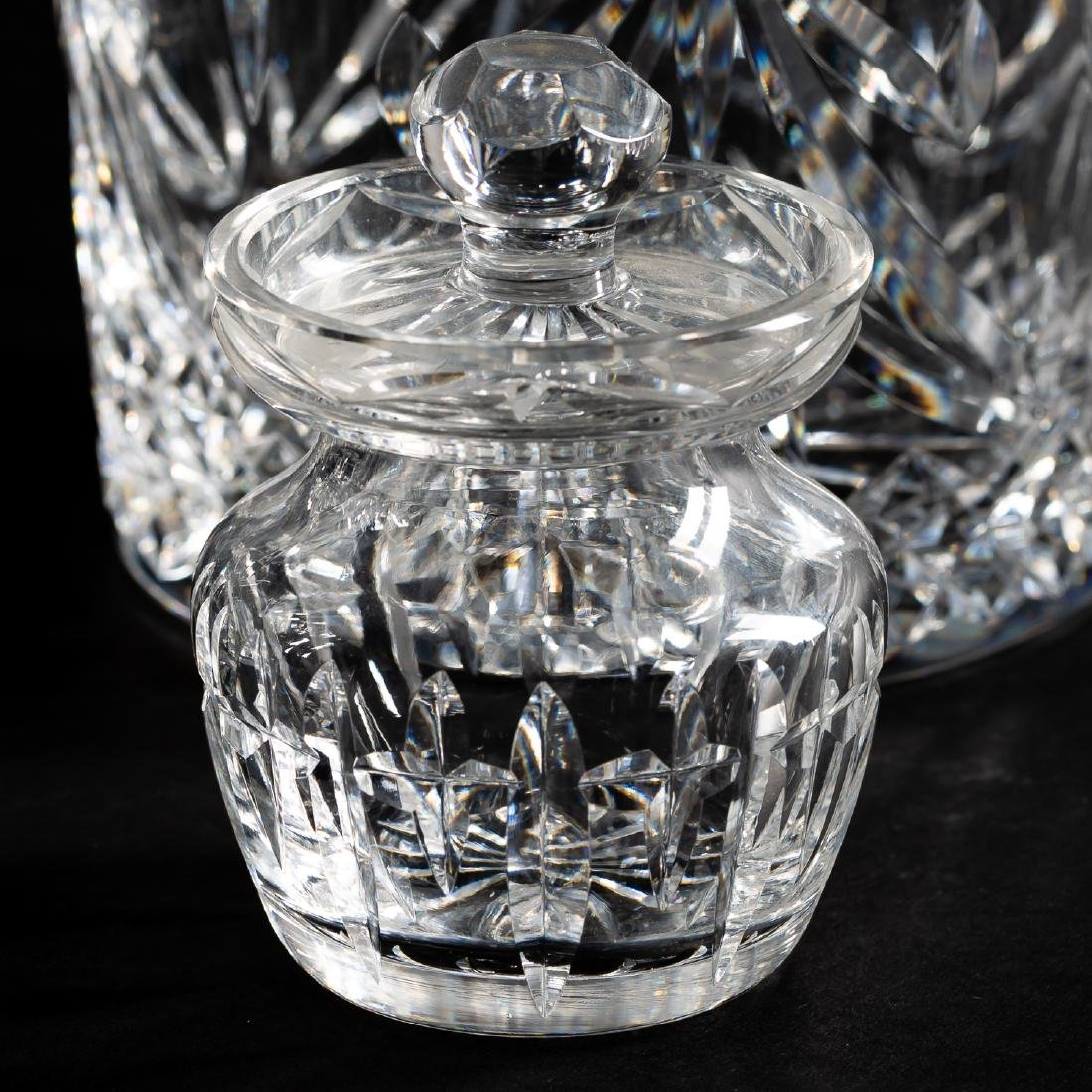 37 PC Waterford Crystal Set, Stemware & Jars - 9