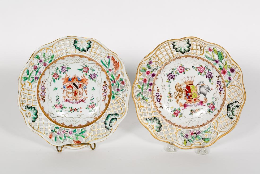 Pair, French 19th C. Samson Armorial Plates