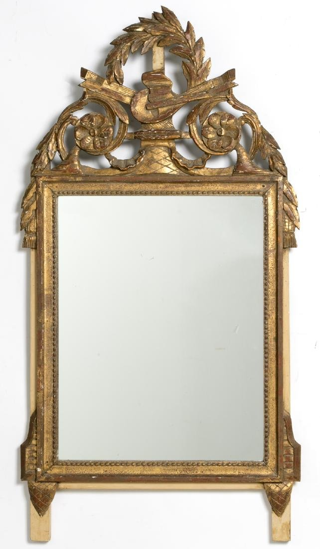 Carved Gilt Wood Mirror, Musical Instruments