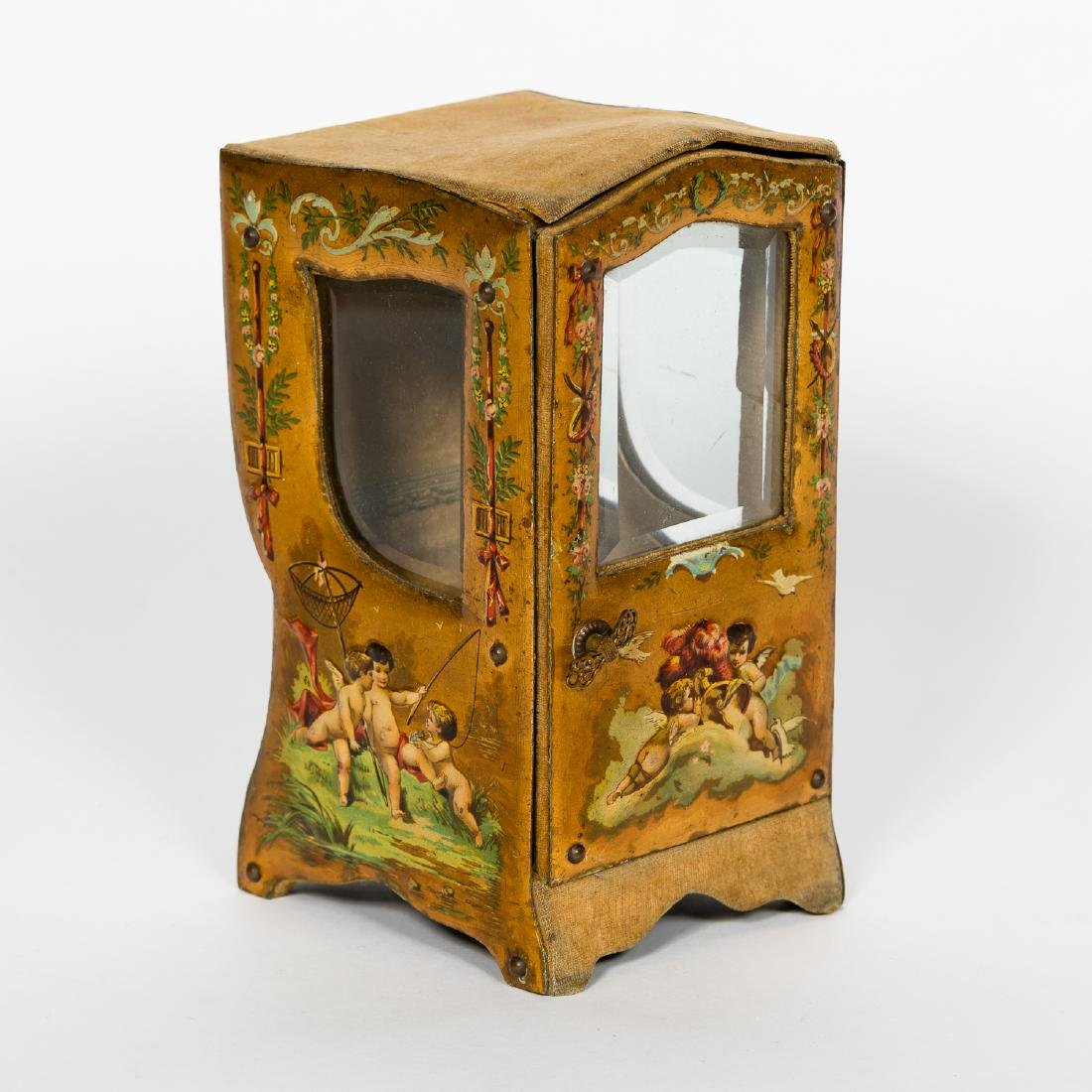 Miniature Vernis Martin Sedan Chair Form Box