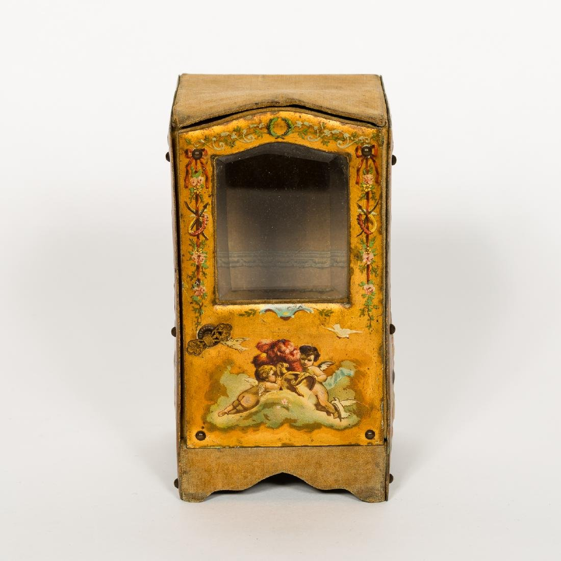 Miniature Vernis Martin Sedan Chair Form Box - 2