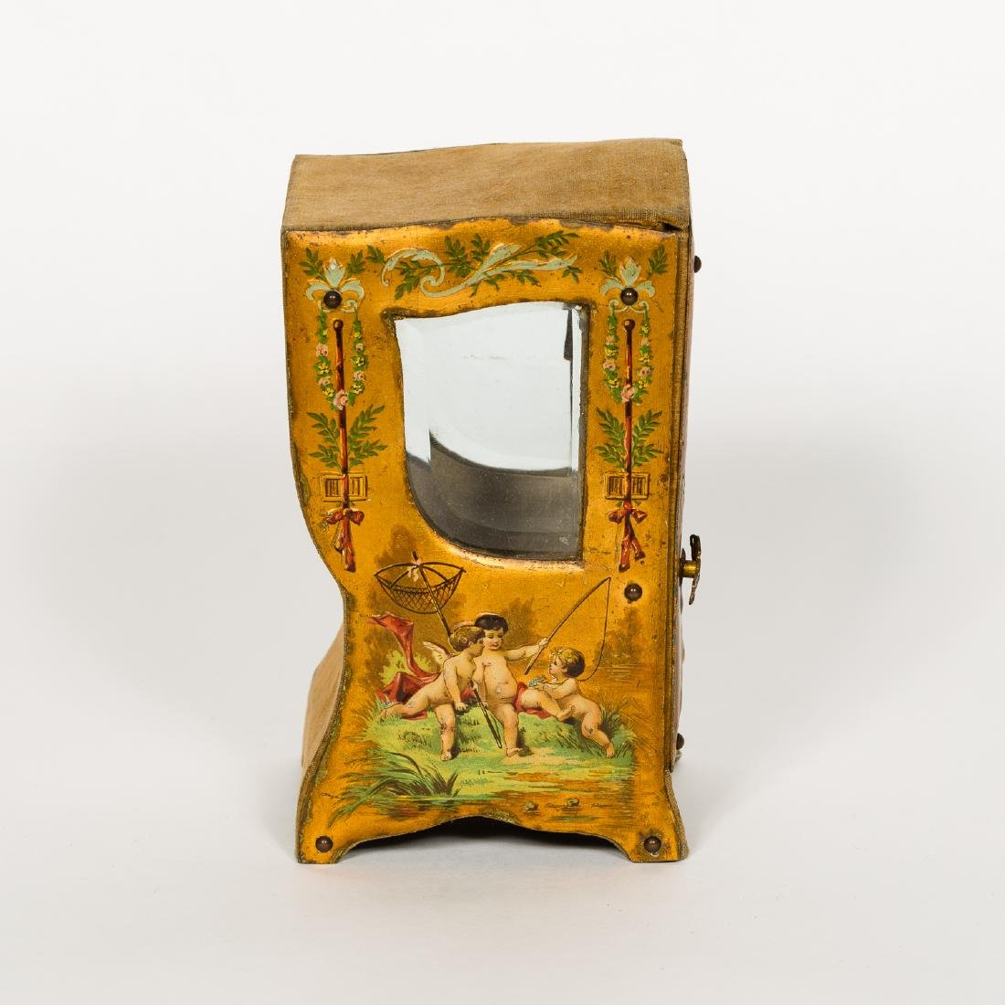 Miniature Vernis Martin Sedan Chair Form Box - 3