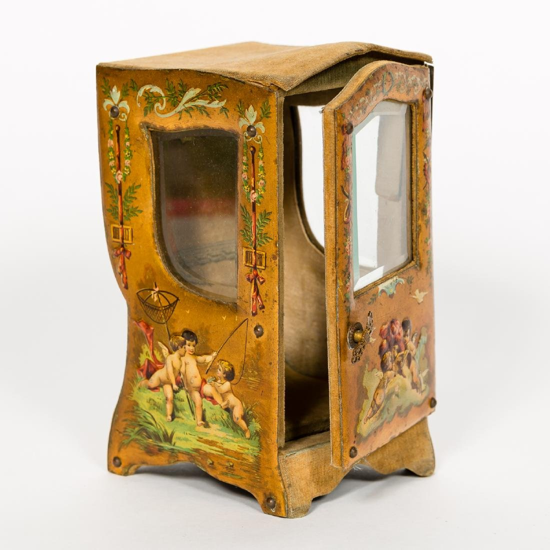 Miniature Vernis Martin Sedan Chair Form Box - 5
