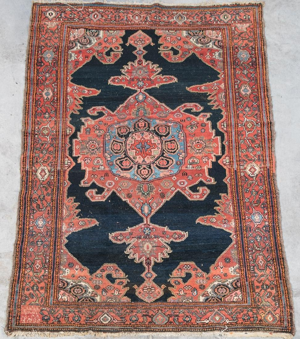 Hand Woven Malayer Rug or Carpet, 7' x 5'