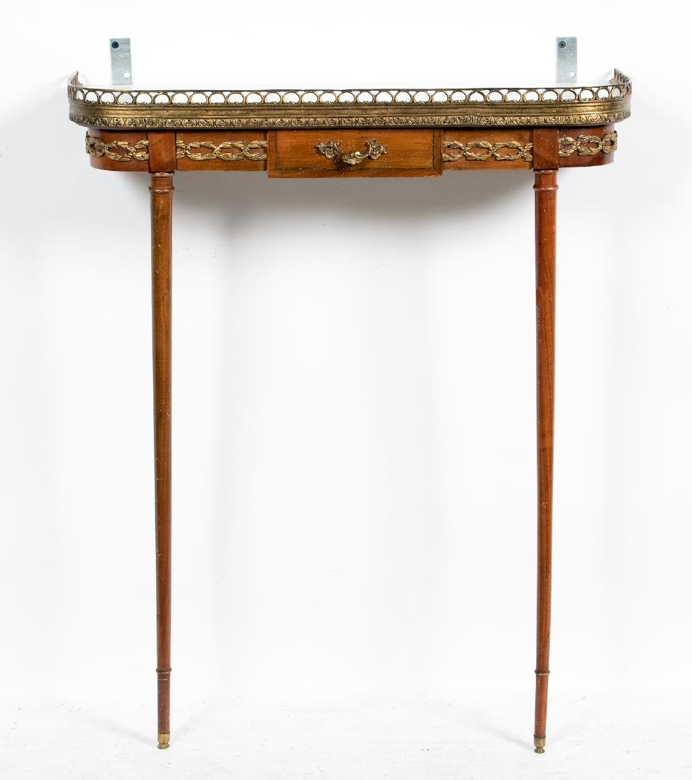 Italian Wall Mounted Console w/ Marble top