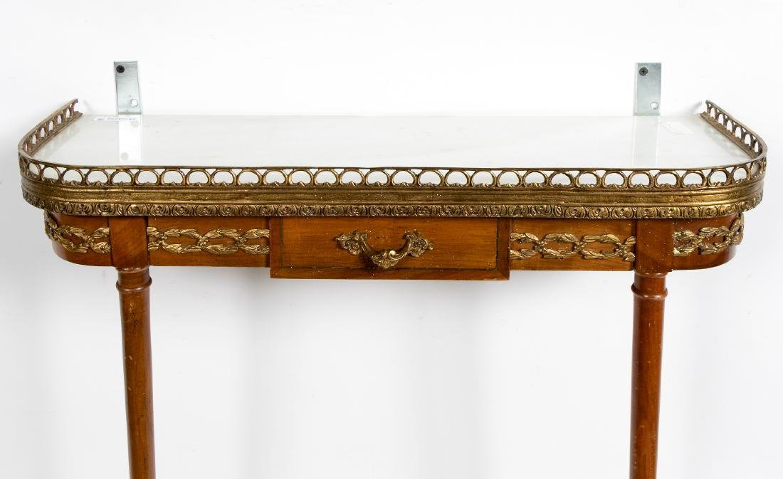 Italian Wall Mounted Console w/ Marble top - 2