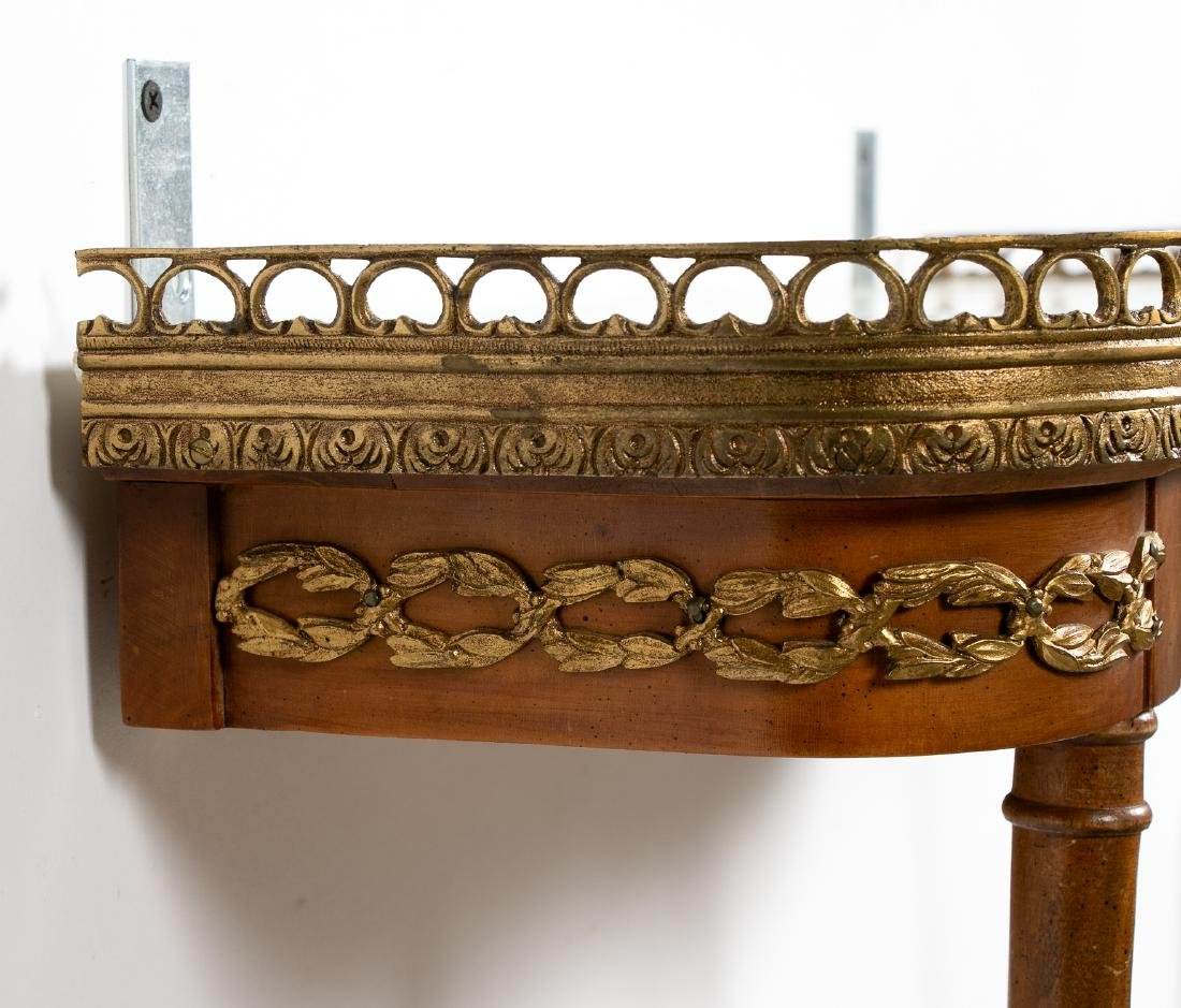 Italian Wall Mounted Console w/ Marble top - 3