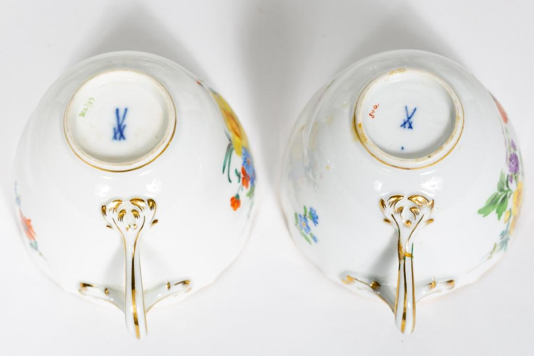 Meissen Porcelain Partial Dinner Service, Marked - 2