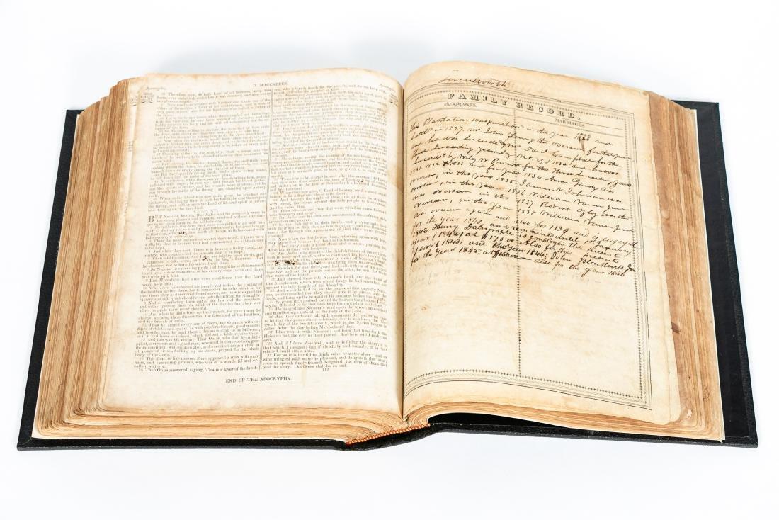 The Levensworth Plantation Slave Bible, 1829-1890