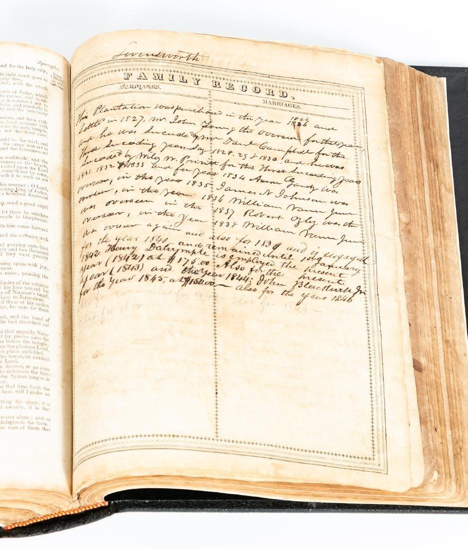 The Levensworth Plantation Slave Bible, 1829-1890 - 2