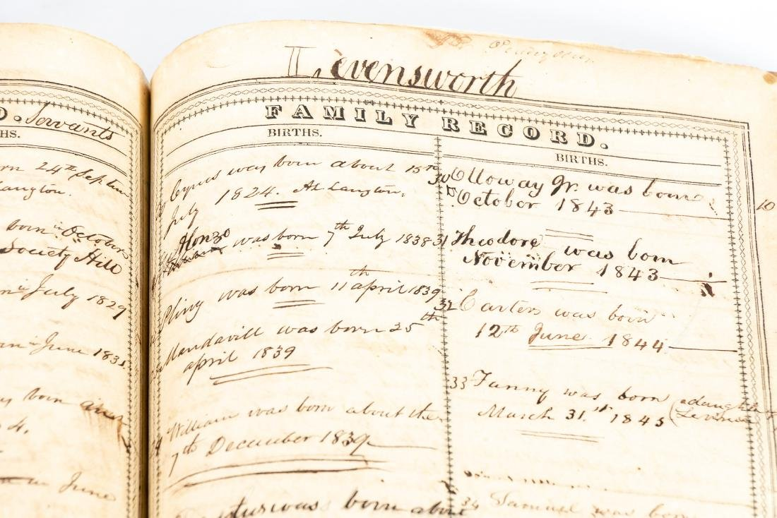 The Levensworth Plantation Slave Bible, 1829-1890 - 6