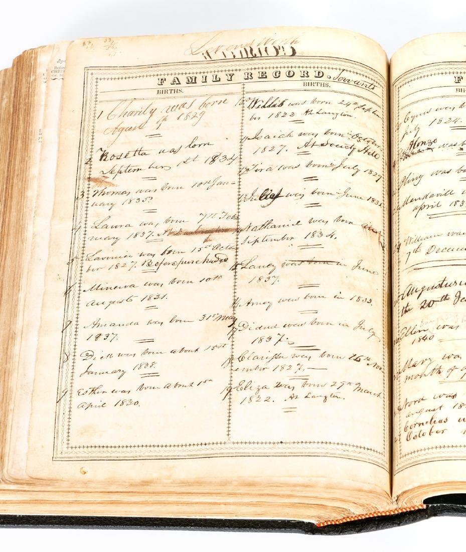 The Levensworth Plantation Slave Bible, 1829-1890 - 8