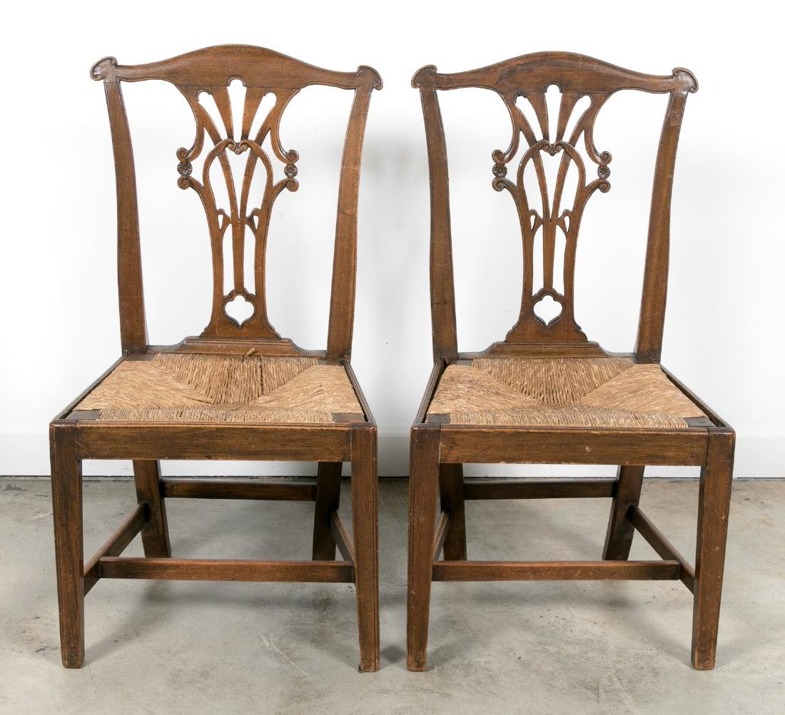 Pair, American 18th/19th C. Chippendale Chairs