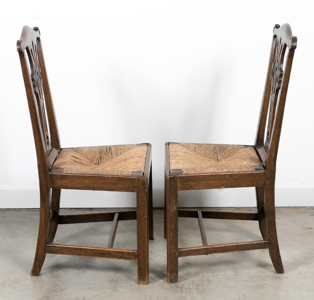 Pair, American 18th/19th C. Chippendale Chairs - 2