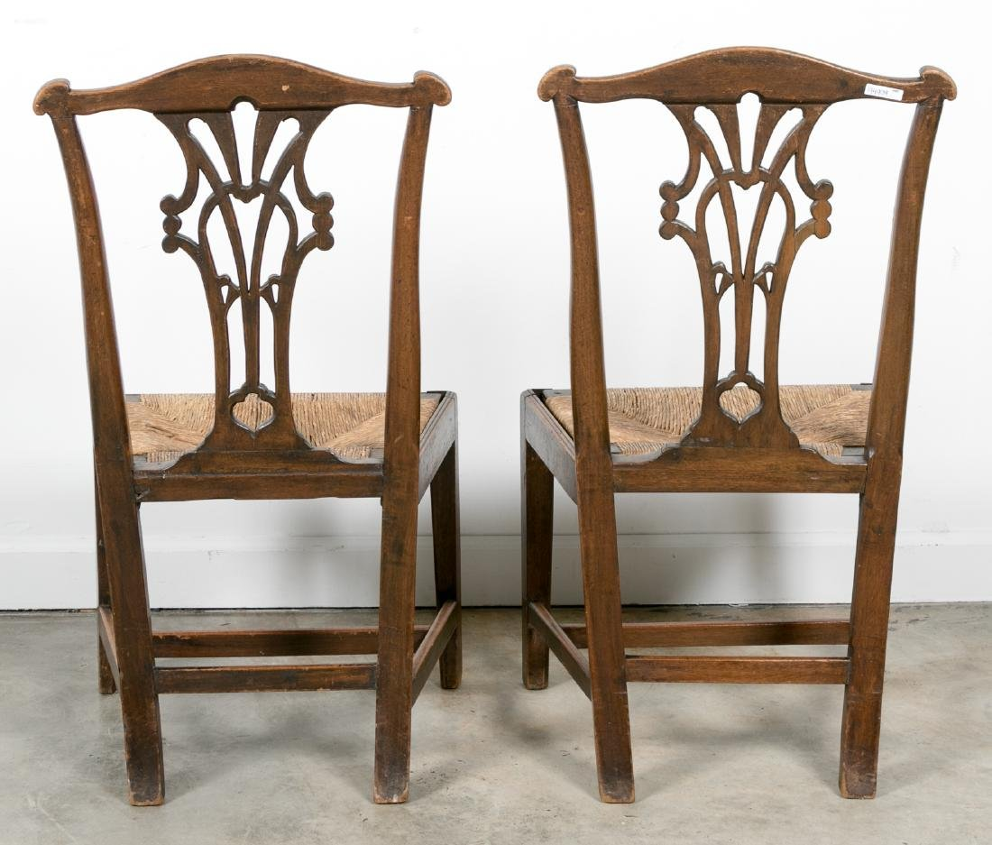 Pair, American 18th/19th C. Chippendale Chairs - 3