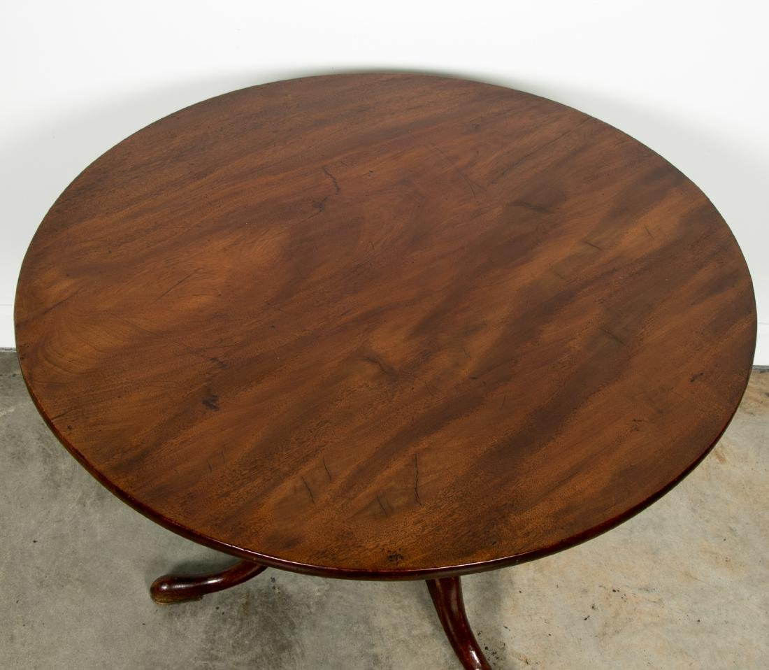 Queen Anne Style Tilt Top Mahogany Table - 3