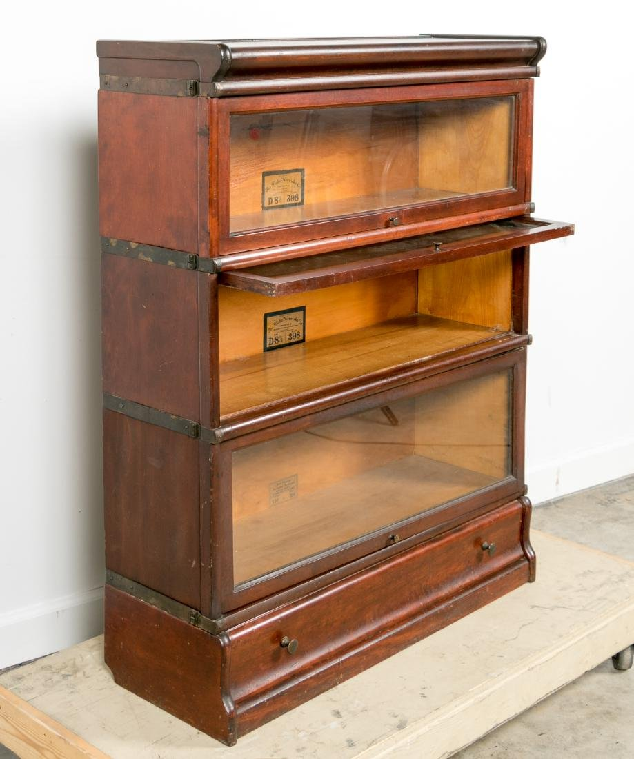 Oak Stacking Barrister Bookcase with Bottom Drawer - 3