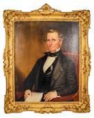 "American School, ""Portrait of a Gentleman,"" O/C"